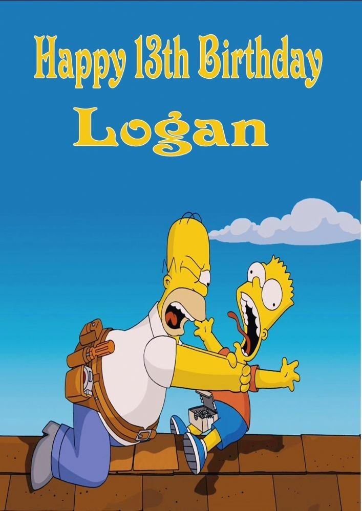 Best Personalised The Simpsons Birthday Card With Pictures